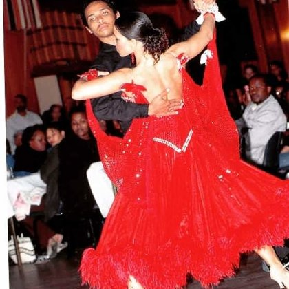 Ballroom dancing back home in South Africa.